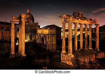 The Roman Forum, Italian Foro Romano in Rome, Italy at...