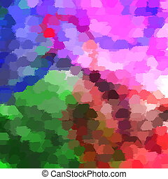 brushstrokes - many colorful brushstrokes abstractes a...