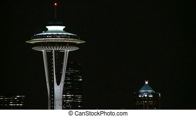 Top of Seattles Space Needle 2 of 3