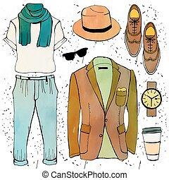 Fashion illustration - Fashion illustration clothing set...
