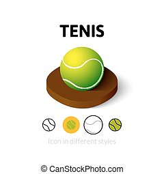 Tenis icon in different style - Tenis icon, vector symbol in...