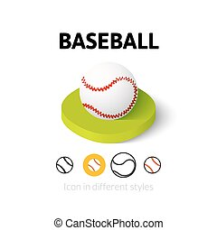 Baseball icon in different style - Baseball icon, vector...