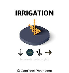 Irrigation icon in different style - Irrigation icon, vector...