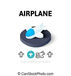 Airplane icon in different style - Airplane icon, vector...