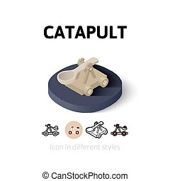 Catapult icon in different style - Catapult icon, vector...