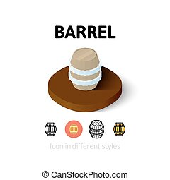Barrel icon in different style