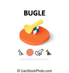 Bugle icon in different style - Bugle icon, vector symbol in...