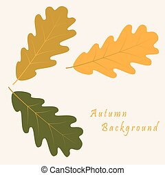 Abstract background with autumn oak leaves