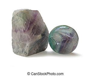 fluorita, cristal, especímenes,