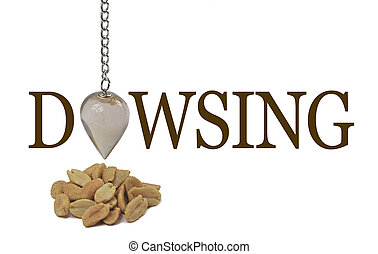 Dowsing for a peanut allergy - A dangling quartz pendulum...