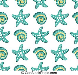 Vector seamless sea pattern
