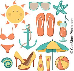 Illustration beach activities