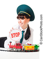 Positive railroad dispatcher say stop - Positive railroad...