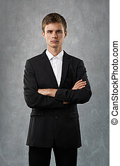 businessman very serious, responsible and lend credence
