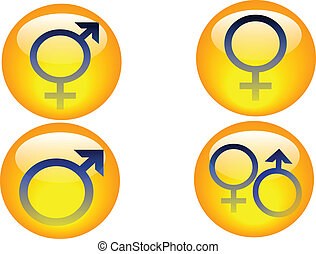 gender icons - a set of four gender icons