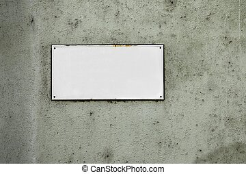 Street sign loseup - Empty street name sign, add your own...