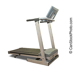 Isolated treadmill - treadmill Isolated on white background...