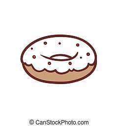Donut - This is an illustration of isolated donut