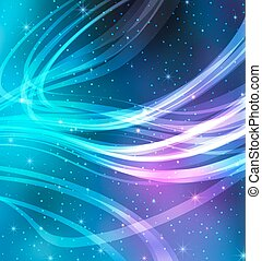 Vector Abstract Galaxy Background for presentation design