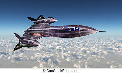 Strategic Reconnaissance Aircraft - Computer generated 3D...