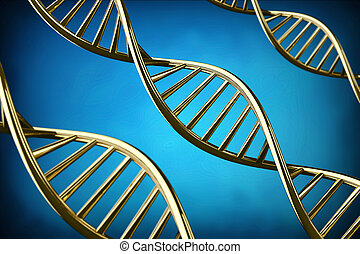 3D DNA helix background.