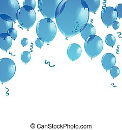 Vector Blue Balloons - Vector Illustration of Blue Balloons