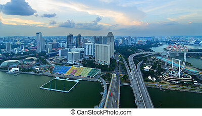 View of Singapore from a height