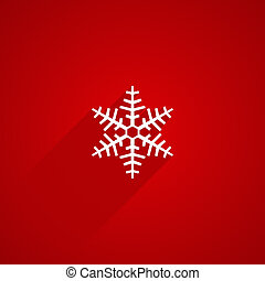 snowflake shape with long shadows on red