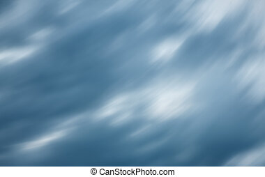 Dramatic sky with blurred stormy clouds - Defocused natural...