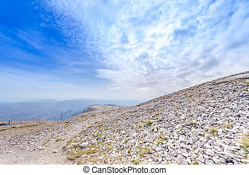 Mt Ventoux - aerial view from the Mount Ventoux in France