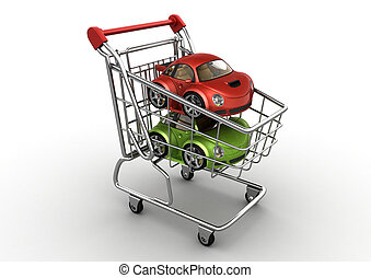 Choose a new car - 3d funny small micromachines series