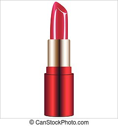 lipstick - bright lipstick isolated on white background...