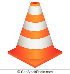 traffic cone - orange traffic cone for barrier isolated on...