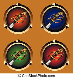 pirate sword - round icons for games with a pirate sword...