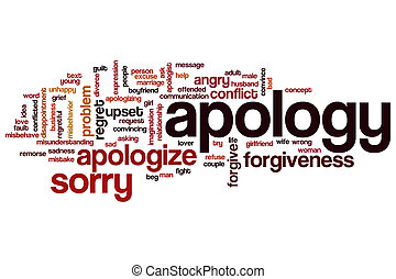 Apology word cloud concept - Apology word cloud