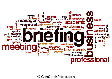 Briefing word cloud concept