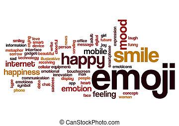 conceito, palavra,  emojiv, nuvem