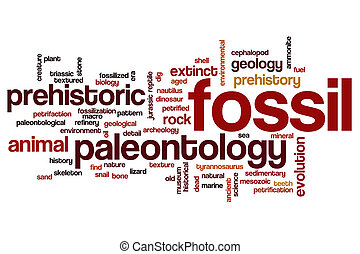 Fossil word cloud concept - Fossil word cloud