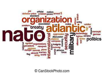 NATO word cloud concept - NATO word cloud