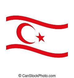 flag of turkish republic northern cyprus - Illustration of...