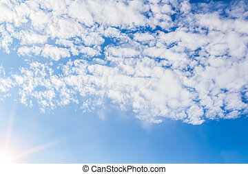 Sunlight and clouds with filter effect - Sunlight and clouds...