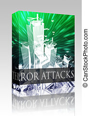 Terror attack box package - Software package box Terrorist...