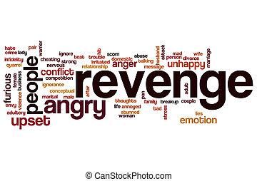 Revenge word cloud concept - Revenge word cloud