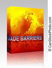 Trade barriers globalization box package - Software package...