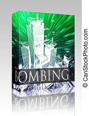 Terrorism bombing box package - Software package box...