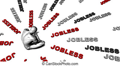 Jobless - Suffering From Jobless with a Victim Crying Male