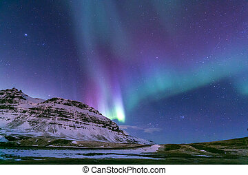 Northern Light Aurora Iceland - The Heart Northern Light...
