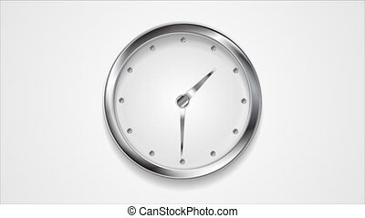 Abstract moving wall clock video animation - Abstract moving...