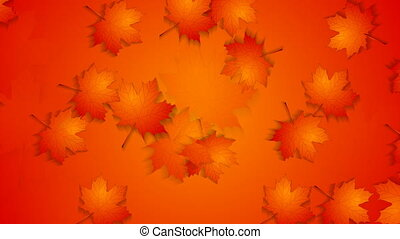 Abstract red orange autumn video animation
