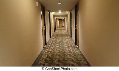 Video of a hotel corridor - Video of a camera going through...